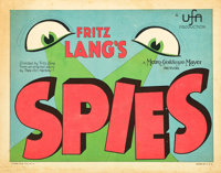 """Spies (MGM, 1928). Title Lobby Card (11"""" X 14"""")"""