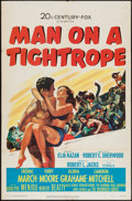 "Movie Posters:Drama, Man on a Tightrope (20th Century Fox, 1953). One Sheet (27"" X 41""). Drama.. ..."