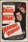 "Movie Posters:Crime, Marked Woman (Warner Brothers, R-1947). One Sheet (27"" X 41"").Crime.. ..."