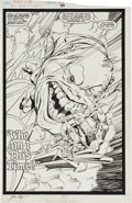 Original Comic Art:Splash Pages, June Brigman and Hilary Barta Power Pack #45 Page 1 OriginalArt (Marvel, 1989)....