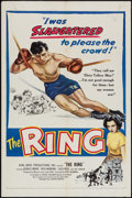 "Movie Posters:Sports, The Ring (United Artists, 1952). One Sheet (27"" X 41"") and Title Card and Lobby Cards (2) (11"" X 14""). Sports.. ... (Total: 4 Items)"