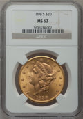 Liberty Double Eagles: , 1898-S $20 MS62 NGC. NGC Census: (8333/4825). PCGS Population(6352/4421). Mintage: 2,575,175. Numismedia Wsl. Price for pr...