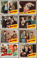 """Movie Posters:Crime, Unmasked (Republic, 1950). Lobby Card Set of 8 (11"""" X 14""""). Crime..... (Total: 8 Items)"""