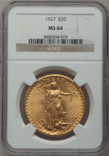 Saint-Gaudens Double Eagles: , 1927 $20 MS64 NGC. NGC Census: (50740/21192). PCGS Population(44002/30346). Mintage: 2,946,750. Numismedia Wsl. Price for ...