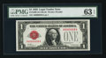 Small Size:Legal Tender Notes, Serial Number 58 Fr. 1500 $1 1928 Legal Tender Note. PMG Choice Uncirculated 63 EPQ.. ...