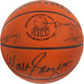 Basketball Collectibles:Balls, 1970 New York Knicks Team Signed Leather NBA Basketball - WorldChampionship Season (Steiner)! ...