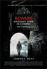 "Sweeney Todd: The Demon Barber of Fleet Street (Warner Brothers, 2007). One Sheet (27"" X 40"") DS Advance. Musi..."