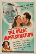 "Movie Posters:Adventure, The Great Impersonation (Universal, 1942). One Sheet (27"" X 41"").Adventure.. ..."