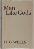 Books:Science Fiction & Fantasy, H. G. Wells. Men Like Gods. Cassell, 1923. First edition,first printing. Mild rubbing to cloth boards. Offsetti...