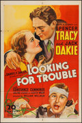 """Movie Posters:Crime, Looking for Trouble (United Artists, 1934). One Sheet (27"""" X 41"""").Crime.. ..."""