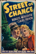 "Movie Posters:Film Noir, Street of Chance (Paramount, 1942). One Sheet (27"" X 41""). Film Noir.. ..."