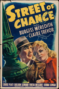 "Street of Chance (Paramount, 1942). One Sheet (27"" X 41""). Film Noir"