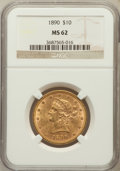 Liberty Eagles: , 1890 $10 MS62 NGC. NGC Census: (57/7). PCGS Population (86/21).Mintage: 57,900. Numismedia Wsl. Price for problem free NGC...