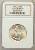 Commemorative Silver: , 1921 50C Pilgrim MS65 NGC. NGC Census: (713/175). PCGS Population(690/287). Mintage: 20,053. Numismedia Wsl. Price for pro...