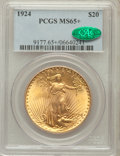 Saint-Gaudens Double Eagles, 1924 $20 MS65+ PCGS. CAC. PCGS Population (39550/8075). NGC Census:(32191/4796). Mintage: 4,323,500. Numismedia Wsl. Price...