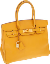 Hermes 30cm Jaune Epsom Leather Birkin Bag with Gold Hardware
