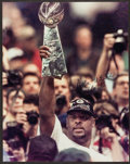 Football Collectibles:Photos, Reggie White Signed Oversized Photograph....