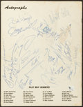 Basketball Collectibles:Programs, 1985 Maurice Stokes Memorial Basketball Game Multi Signed Program -With Maravich Signature....
