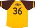 Baseball Collectibles:Uniforms, Gaylord Perry Signed San Diego Padres Jerseys. ...
