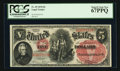 Large Size:Legal Tender Notes, Fr. 69 $5 1878 Legal Tender PCGS Superb Gem New 67PPQ.. ...