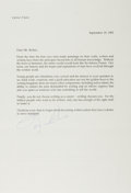 Autographs:Authors, Leon Uris, American Author. Typed Letter Signed. Near fine....