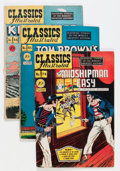 Golden Age (1938-1955):Classics Illustrated, Classics Illustrated Group (Gilberton, 1950s) Condition: AverageVG-.... (Total: 34 Comic Books)