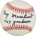 Baseball Collectibles:Balls, 1984-88 Ray Morehart Single Signed Baseball. ...