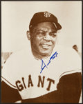 Baseball Collectibles:Photos, Willie Mays Signed Oversized Photograph....