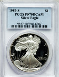 Modern Bullion Coins, 1989-S $1 One Ounce Silver Eagle PR70 Deep Cameo PCGS. PCGSPopulation (588). NGC Census: (825). Mintage: 617,694. Numismed...