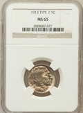 Buffalo Nickels: , 1913 5C Type Two MS65 NGC. NGC Census: (316/76). PCGS Population(533/197). Mintage: 29,858,700. Numismedia Wsl. Price for ...