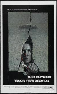 "Escape from Alcatraz (Paramount, 1979). One Sheet (27"" X 41""). Action. Starring Clint Eastwood, Patrick McGooh..."