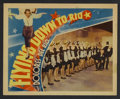 "Movie Posters:Musical, Flying Down to Rio (RKO, 1933). Lobby Card (11"" X 14""). Musical Comedy. Starring Dolores del Rio, Gene Raymond, Ginger Roger..."