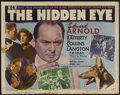 "Movie Posters:Film Noir, The Hidden Eye (MGM, 1945). Half Sheet (22"" X 28""). Starring Edward Arnold, Frances Rafferty, Ray Collins and Paul Langton. ..."