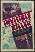 "Movie Posters:Mystery, The Invisible Killer (PRC, 1940). One Sheet (27"" X 41""). Mystery.Starring Grace Bradley, Roland Drew, William Newell and Bo..."