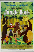 "Movie Posters:Animated, The Jungle Book (Buena Vista, 1967). One Sheet (27"" X 41"") Tri-folded. Family. Starring Phil Harris, Sebastian Cabot, Louis ..."