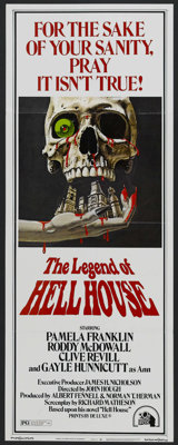 "The Legend Of Hell House (Twentieth Century Fox, 1973). Insert (14"" X 36""). Horror. Starring Pamela Franklin..."