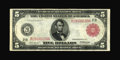 Fr. 833b $5 1914 Red Seal Federal Reserve Note Very Fine-Extremely Fine