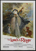 "Movie Posters:Animated, The Lord of the Rings (United Artists, 1978). One Sheet (27"" X 41""). Animation. Directed by Ralph Bakshi. Starring the voice..."