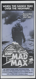 "Movie Posters:Science Fiction, Mad Max (Roadshow Film Distributors, 1979). Australian Daybill (13"" X 30""). Action. Starring Mel Gibson, Joanne Samuel, Hugh..."