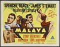"Movie Posters:Adventure, Malaya (MGM, 1949). Half Sheet (22"" X 28"") Style A. Adventure. Starring Spencer Tracy, James Stewart, Valentina Cortese, Syd..."