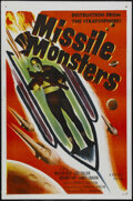 "Movie Posters:Science Fiction, Missile Monsters (Republic, 1958). One Sheet (27"" X 41"")Tri-folded. Science Fiction. Starring Walter Reed, Lois Collier,Ja..."