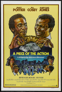 """A Piece of the Action (Warner Brothers, 1977). One Sheet (27"""" X 41""""). Comedy. Directed by Sidney Poitier. Star..."""