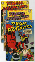 Golden Age (1938-1955):Science Fiction, Strange Adventures Group (DC, 1952-52) Condition: Average GD+....(Total: 4 Comic Books)