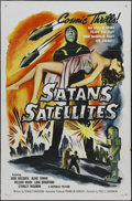 "Movie Posters:Science Fiction, Satan's Satellites (Republic, 1958). One Sheet (27"" X 41"")Tri-folded. Science Fiction. Starring Stanley Waxman, WilsonWood..."