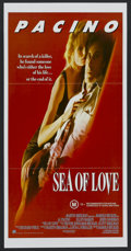 "Movie Posters:Thriller, Sea of Love (Universal, 1989). Australian Daybill (13"" X 30""). Thriller. Starring Al Pacino, Ellen Barkin, John Goodman and ..."