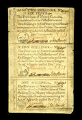 Colonial Notes:North Carolina, North Carolina December, 1771 2s/6d, 5s, 1s Uncut Sheet ExtremelyFine-About Uncirculated...