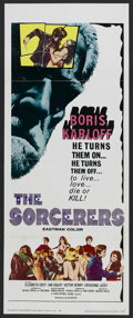 """Movie Posters:Horror, The Sorcerers (Allied Artists, 1967). Insert (14"""" X 36""""). Horror. Directed by Michael Reeves. Starring Boris Karloff, Cather..."""