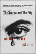 "Movie Posters:Documentary, The Sorrow and the Pity (Cinema 5, 1972). One Sheet (27"" X 41""). Documentary. Directed by Marcel Ophuls. Starring Pierre Men..."