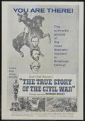 """Movie Posters:Documentary, The True Story of the Civil War (Film Representations, 1957). One Sheet (27"""" X 41""""). Documentary. Narrated by Raymond Massey..."""