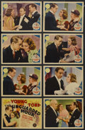 """Movie Posters:Crime, The Unguarded Hour (MGM, 1936). Title Lobby Card (11"""" X 14"""") andLobby Cards (7) (11"""" X 14""""). Crime. Starring Franchot Tone,...(Total: 8 Items)"""
